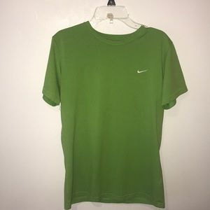 Green shirt sleeve Nike shirt